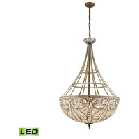 ELK 15967/10-LED Elizabethan LED 28 inch Dark Bronze Chandelier Ceiling Light