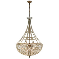 ELK 15967/10 Elizabethan 10 Light 28 inch Dark Bronze Chandelier Ceiling Light in Incandescent
