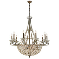 Elk Lighting Elizabethan 18 Light Chandelier in Dark Bronze 15969/10+8