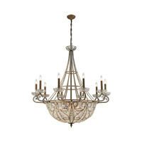 Elizabethan 18 Light 44 inch Dark Bronze Chandelier Ceiling Light