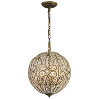 Elizabethan 5 Light 13 inch Dark Bronze Pendant Ceiling Light