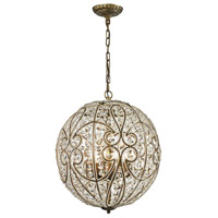 Elizabethan 8 Light 17 inch Dark Bronze Pendant Ceiling Light