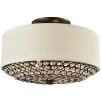 Webberville 2 Light 12 inch Oil Rubbed Bronze Semi Flush Mount Ceiling Light