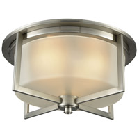 ELK 15989/3 Vancourt 3 Light 15 inch Satin Nickel Flush Mount Ceiling Light