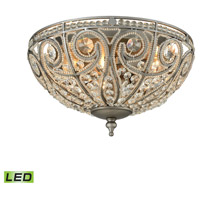 Elizabethan LED 13 inch Weathered Zinc Flush Mount Ceiling Light