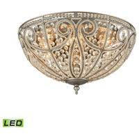 Elizabethan LED 17 inch Weathered Zinc Flush Mount Ceiling Light