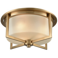 ELK 15999/3 Vancourt 3 Light 15 inch Satin Brass Flush Mount Ceiling Light
