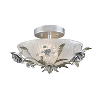 ELK Lighting Rose Vine 2 Light Semi-Flush Mount in Silver Leaf 16003/2