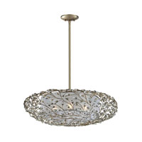 Winter Forest 4 Light 28 inch Aged Silver Pendant Ceiling Light