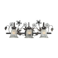 ELK Lighting Iced Glass 3 Light Bath Bar in Deep Rust 16022/3