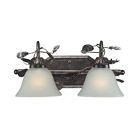 ELK 16026/2 Maribella 2 Light 16 inch Deep Rust Bath Bar Wall Light