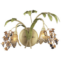 Huarco 2 Light 16 inch Seashell/Sage Green Sconce Wall Light