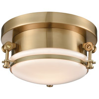 ELK 16092/1 Riley 1 Light 10 inch Satin Brass Flush Mount Ceiling Light