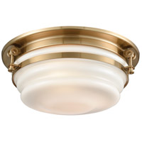 ELK 16094/3 Riley 3 Light 15 inch Satin Brass Flush Mount Ceiling Light