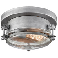 ELK 16102/1 Riley 1 Light 10 inch Weathered Zinc Flush Mount Ceiling Light