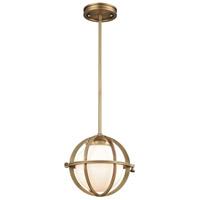 ELK 16152/1 Aubridge 1 Light 10 inch Classic Brass Pendant Ceiling Light
