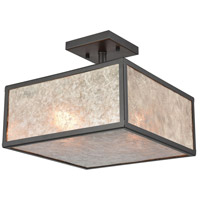 Stasis 2 Light 13 inch Oil Rubbed Bronze Semi Flush Mount Ceiling Light