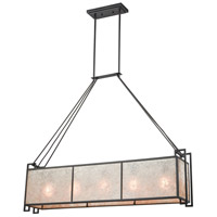 Stasis 5 Light 46 inch Oil Rubbed Bronze Billiard Island Ceiling Light