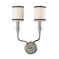 ELK 1620/2 Tribeca 2 Light 13 inch Polished Nickel Sconce Wall Light