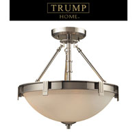 ELK Lighting Trump Home Central Park Tribeca 3 Light Semi Flush in Polished Nickel 1623/3