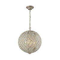 Renaissance 8 Light 17 inch Sunset Silver Pendant Ceiling Light