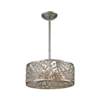 Renaissance 4 Light 15 inch Sunset Silver Semi Flush Ceiling Light