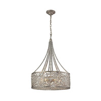 ELK 16244/6 Renaissance 6 Light 21 inch Sunset Silver Pendant Ceiling Light