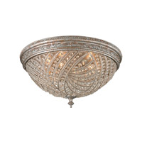 Renaissance 6 Light 24 inch Sunset Silver Flushmount Ceiling Light