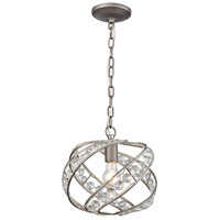 ELK 16247/1 Renaissance 1 Light 11 inch Weathered Zinc Mini Pendant Ceiling Light