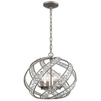 ELK 16248/4 Renaissance 4 Light 16 inch Weathered Zinc Pendant Ceiling Light