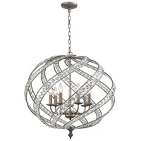ELK 16249/7 Renaissance 7 Light 28 inch Weathered Zinc Pendant Ceiling Light