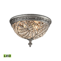 Renaissance LED 16 inch Weathered Zinc Flush Mount Ceiling Light