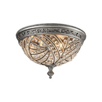 Renaissance 4 Light 16 inch Weathered Zinc Flush Mount Ceiling Light in Standard