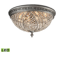 Renaissance LED 24 inch Weathered Zinc Flush Mount Ceiling Light