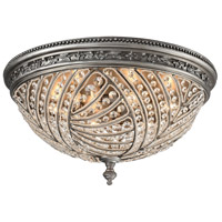 Renaissance 6 Light 24 inch Weathered Zinc Flush Mount Ceiling Light in Standard