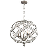 Renaissance 5 Light 21 inch Weathered Zinc Chandelier Ceiling Light