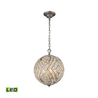 Renaissance LED 13 inch Weathered Zinc Chandelier Ceiling Light