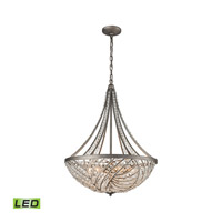 Renaissance LED 22 inch Weathered Zinc Chandelier Ceiling Light