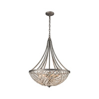 Renaissance 6 Light 22 inch Weathered Zinc Chandelier Ceiling Light in Standard