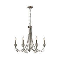 ELK 16256/5 Renaissance 5 Light 23 inch Weathered Zinc Chandelier Ceiling Light