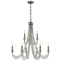 ELK 16257/6+3 Renaissance 9 Light 38 inch Weathered Zinc Chandelier Ceiling Light