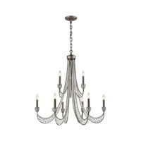 Renaissance 9 Light 38 inch Weathered Zinc Chandelier Ceiling Light