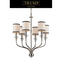ELK Lighting Trump Home Central Park Tribeca 6 Light Chandelier in Polished Nickel 1625/6