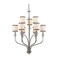 ELK Lighting Trump Home Central Park Tribeca 9 Light Chandelier in Polished Nickel 1626/6+3