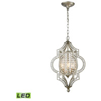 Gabrielle LED 14 inch Aged Silver Chandelier Ceiling Light