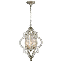 Gabrielle 3 Light 14 inch Aged Silver Chandelier Ceiling Light in Standard