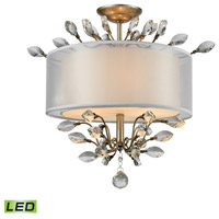 Asbury LED 19 inch Aged Silver Semi Flush Mount Ceiling Light