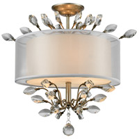 Asbury 3 Light 19 inch Aged Silver Semi Flush Mount Ceiling Light in Incandescent
