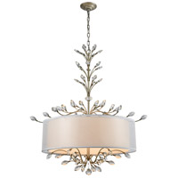Asbury 6 Light 32 inch Aged Silver Chandelier Ceiling Light in Incandescent