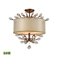 Asbury LED 19 inch Spanish Bronze Semi Flush Mount Ceiling Light